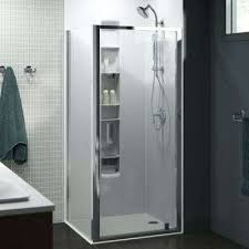 corner pivot shower door in bright polished kohler doors glass cleaner n
