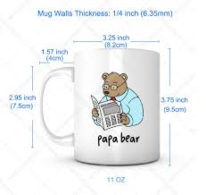Papa Bear Fathers Day Gift Mug Ideas Funny Cartoon Coffee Mug Quotes Sayings For Dadfather In Law Birthday Gift From Sondaughter Lead Free Ceramic