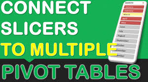 Connect Slicers To Multiple Excel Pivot Tables Myexcelonline