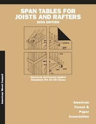 Span Tables For Joists And Rafters American Wood Council