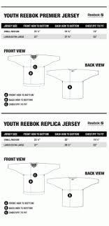 Fanatics Size Chart Youth Fanatics Hockey Jersey Size Chart Koho Hockey Jerseys