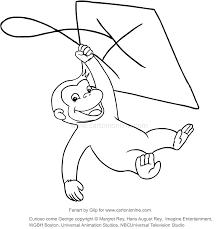 Disegno Di George Con Laquilone Curioso Come George Da Colorare