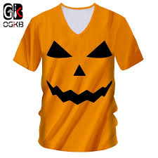 OGKB Man New Halloween 3D <b>Printed T Shirt Funny</b> Human Face ...