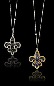 31020 14k white gold 2 42ctw pave black diamond 0 59ctw of pave white diamond fleur de lis pendant