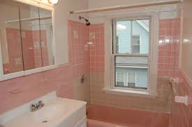 Bathroom:Pink Tile Bath With Small Window In Small Bathroom Idea Pink Tile  Bath With