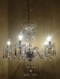 vintage chandelier crystals vintage waterford eragh 5 arm b5 crystal chandelier waterford