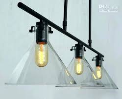 awful 3 bulb chandelier meridian transpa glass chandeliers light bulb funnel dining room pendant lamp 3