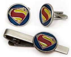 image is loading superman cuff links justice league tie clip geek