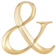 gold symbol wall decor ampersand