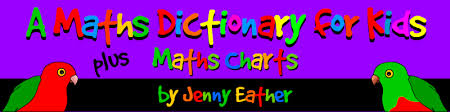 Early Childhood Education Terminology Chart A Maths Dictionary For Kids By Jenny Eather Definitions