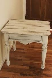 distressed white wood furniture. Interesting White Refurbished End Tables Distressed  And White Wood Furniture