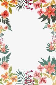 Flower Wall Paper Border Floral Borders Invitations Free Printable Invitation Templates