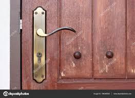 vine door handle with keyhole stock photo