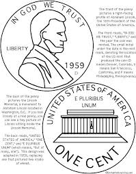 abraham coloring sheet page pages memorial em ems penny lincoln