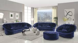Royal Furniture Living Room Sets Coaster 511041 Romanus Royal Blue 4 Pcs Sofa Set