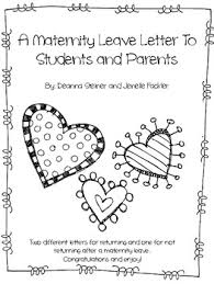 Mail For Maternity Leave Maternity Leave Letter To Parents Worksheets Teaching