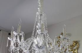 palm beach sparkles with a thrifty crystal chandelier