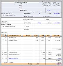 Tax Invoice Examples Printable Tax Invoice Sample Template