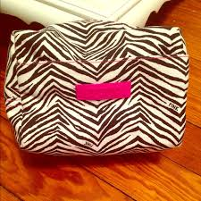 vs zebra makeup bag
