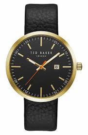 ted baker london men s watches nordstrom ted baker london jack round leather strap watch 40mm
