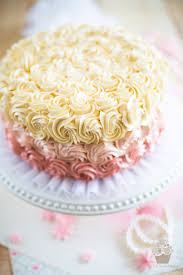 Lemon Raspberry Ombre Cake