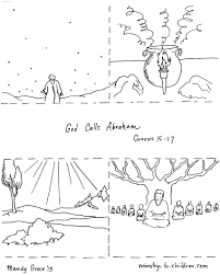 Small Picture Abraham And Gods Promise Coloring Page Inside Pages Throughout