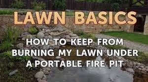 How To Keep From Burning My Lawn Under A Portable Fire Pit Youtube