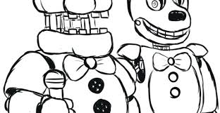 Coloring Pages Mangle Fnaf 2 Five Nights At Freddys Yoloerco