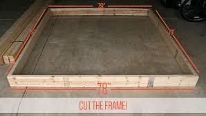diy king bed frame.  Bed Cut Your Front And Back 26u0027s To 78u2033 Sides 79u2033 Inside Diy King Bed Frame