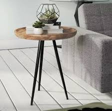 metal side table small round furniture