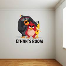 Angry Birds Wall Sticker & Personalised Name - Red, Chuck and Bomb (60cm x  60cm): Amazon.co.uk: Kitchen & Home