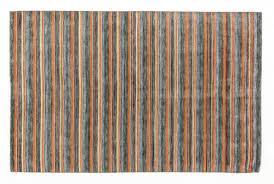 pure wool area rug handmade oriental carpet geometric stripe soft cotton thick