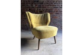 cocktail chair club chair mid century art deco style yellow circa 1950s photo 1