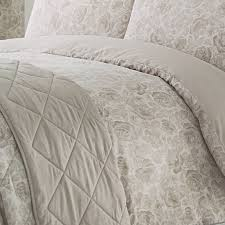 2 of 3 catherine lansfield elmswell natural fl taupe duvet quilt cover bedding set