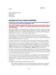 Letter Regarding Infringment Notice Safety Government Information