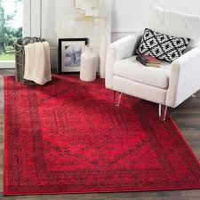 8 foot square rug vintage red black rug 8 foot square wool rug