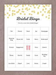 Wedding Bingo Words 15 Printable Wedding Games Everyone Will Love