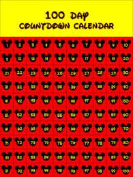 Calendar Countdown Days Countdown Calendar 100 120 Day Disney Mickey Theme By Poppys Bell