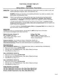 Functional Resume Templates Lcysne Com