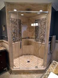 Tile shower images Bullnose Mix Travertine With Dark Tile Accents Architypesnet 10 Walk In Shower Tile Ideas That Radiate Luxury