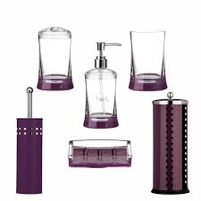 Purple Bathroom Accessories Set Purple Bathroom Accessories Soap Dispenser Tooth Brush Holder