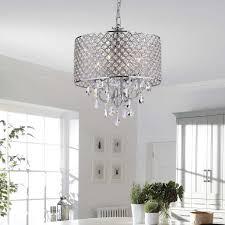 4 light crystal chandelier ceiling fixture