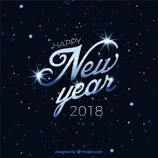 happy new year 2018. Beautiful 2018 Elegant Background Of Happy New Year 2018 With Stars Free Vector Inside Happy New Year O