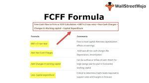 free cash flow formula top 3 fcff formula you must know