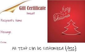 Printable Christmas Certificates Free Editable Christmas Gift Certificate Template 100 Designs 44