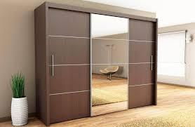 modern sliding wood closet doors