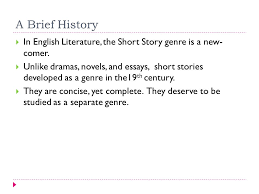 short story history and types a brief history  in english  a brief history  in english literature the short story genre is a new