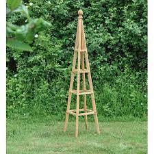 wooden garden obelisk 1 5m
