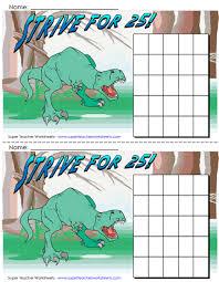 Dinosaur Reward Chart And Stickers Printable Sticker Chart Bismi Margarethaydon Com