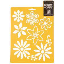 daisy stencil hobby lobby 943852